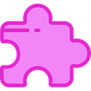 Game, gaming, shapes, Puzzle, ui, Toy, piece, Hobbies And Free Time Violet icon