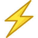 lightning, weather, electricity, Flash, Bolt, ui, electrical, technology, thunder Black icon
