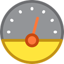 speedometer, velocity, Tools And Utensils, Measuring, Seo And Web LightSlateGray icon
