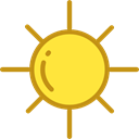 sun, weather, nature, Sunny, warm, summer, meteorology, Summertime Black icon