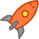 Rocket, Space Ship Launch, Rocket Launch, transportation, transport, Space Ship, Rocket Ship Black icon