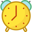 Clock, time, timer, alarm clock, Tools And Utensils, Time And Date Gold icon