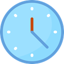 Clock, time, watch, tool, square, Tools And Utensils, Time And Date LightSkyBlue icon