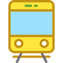 transportation, transport, vehicle, Tram, Automobile, Public transport LightSkyBlue icon
