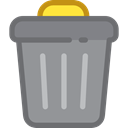 Trash, interface, Basket, Bin, Garbage, Can, ui, Tools And Utensils LightSlateGray icon
