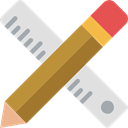 pencil, Drawing, ruler, Construction, Home Repair, Improvement, Construction And Tools Gainsboro icon