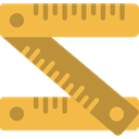 Construction And Tools, Home Repair, Measuring, Improvement, ruler, Construction SandyBrown icon