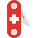 miscellaneous, equipment, Switzerland, Blade, Tools And Utensils, Swiss Army Knife, Construction And Tools Crimson icon