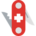 miscellaneous, equipment, Switzerland, Construction And Tools, Blade, Tools And Utensils, Swiss Army Knife Crimson icon