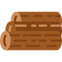 Log, wooden, wood, nature Sienna icon