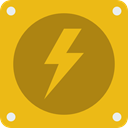 electrical, technology, thunder, electronics, lightning, electricity, Flash, Bolt Goldenrod icon