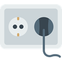 Connection, Socket, plug, plugin, electrical, technology, electronics, Tools And Utensils, Construction And Tools LightGray icon