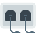 plug, plugin, electrical, technology, electronics, Tools And Utensils, Connection, Socket LightGray icon