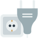 Connection, Socket, plug, plugin, electrical, technology, electronics, Tools And Utensils DarkGray icon