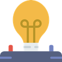 Light bulb, Idea, electricity, illumination, technology, electronics, invention SandyBrown icon