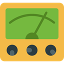 Energy, power, technology, electronics, Measuring, Voltmeter Icon