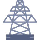 Energy, electricity, industry, tower, Power Line, Architecture And City, Electric Tower LightSlateGray icon