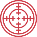 Seo And Web, Target, shooting, sniper, weapons, Aim IndianRed icon