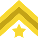 Chevron, Military, Army, miscellaneous Gold icon