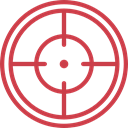 sniper, weapons, Seo And Web, Aim, Target, shooting IndianRed icon