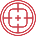 weapons, Seo And Web, Aim, Target, shooting, sniper IndianRed icon