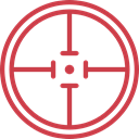 Target, shooting, sniper, weapons, Aim, Seo And Web IndianRed icon