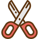 Tools And Utensils, Edit Tools, Handcraft, Cut, scissors, Cutting SaddleBrown icon