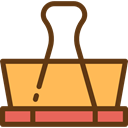 miscellaneous, Tools And Utensils, School Material, Office Material, Attachment, Paperclip, Clip, Clips SandyBrown icon