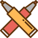 pencil, Pen, writing, Tools And Utensils, School Material, Office Material, Edit Tools Icon