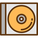 Multimedia, music, Dvd, Cd, music player, Bluray, compact disc, Music And Multimedia SaddleBrown icon