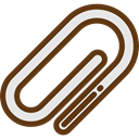Tools And Utensils, Multimedia Option, Edit Tools, Attach, Paperclip, Clip, ui, miscellaneous SaddleBrown icon