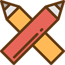 Edit, pencil, Draw, writing, pencils, Tools And Utensils, Edit Tools SaddleBrown icon