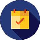 interface, Administration, ui, Organization, Calendars, Calendar, time, date, Schedule MidnightBlue icon