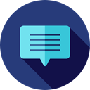 Multimedia, Chat, Communication, speech bubble, Conversation, Communications DarkSlateBlue icon