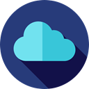 Cloudy, sky, Cloud computing, Seo And Web, Cloud, weather DarkSlateBlue icon