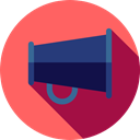 megaphone, loudspeaker, Seo And Web, shout, protest, announcer, Tools And Utensils Tomato icon