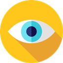 Eye, visible, ui, Visibility, view, medical, interface Gold icon