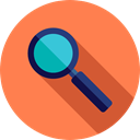 search, magnifying glass, zoom, detective, Loupe, Tools And Utensils, Seo And Web Coral icon