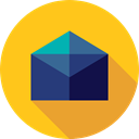 Email, envelope, Multimedia, Message, mail, interface, mails, envelopes, Communications Gold icon