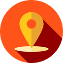 pin, placeholder, signs, map pointer, Maps And Flags, Map Location, Map Point, Maps And Location OrangeRed icon