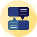 Multimedia, Chat, Communication, speech bubble, Conversation, Communications Moccasin icon