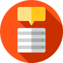 electronics, Cloud computing, file storage, Cloud storage, computing, Data Storage, Server, Multimedia, Database, interface OrangeRed icon