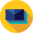 mails, envelopes, Communications, Email, envelope, Multimedia, Message, mail, interface Gold icon