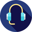 Videocall, customer service, technology, electronics, earphones, Headphones, Headset, Microphone MidnightBlue icon