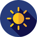 light, brightness, ui, illumination, star, miscellaneous, sun, weather DarkSlateBlue icon