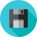 ui, technology, electronics, Diskette, Multimedia, save, Floppy disk, interface, Save File, Flash Disk MediumTurquoise icon