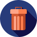 Trash, interface, Basket, Bin, Garbage, Can, ui, Tools And Utensils DarkSlateBlue icon