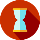 Hourglass, waiting, Tools And Utensils, Time And Date, Clock, time Firebrick icon