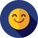 Face, happy, smiley, people, smile, Emoticon, smiling, Gestures, Smileys DarkSlateBlue icon