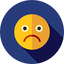 unhappy, sad, emoticons, Emoji, feelings, Smileys DarkSlateBlue icon